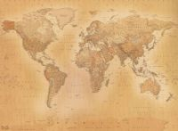 Old style vintage World Map Wallpaper Wall Mural 2.32m x 3 ...